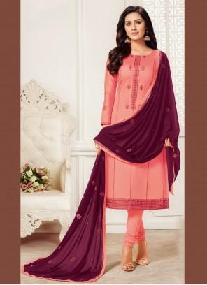 Pink Festival Churidar Salwar Suit