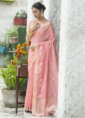 Pink Festival Classic Saree