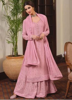 Pink Festival Designer Palazzo Salwar Kameez