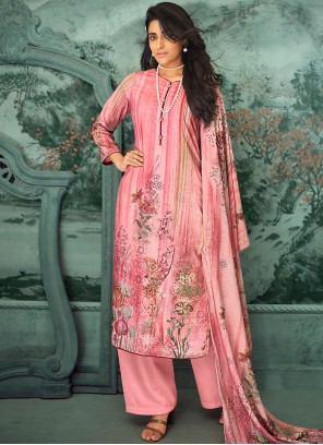 Pink Festival Designer Palazzo Suit