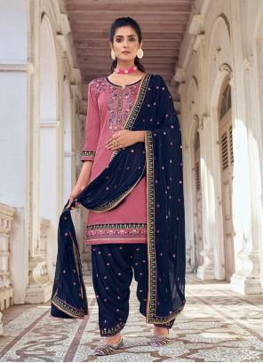 Pink Festival Designer Patiala Suit