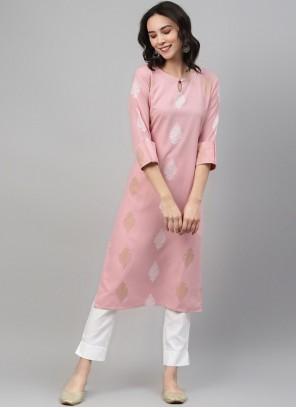 Pink Festival Party Wear Kurti