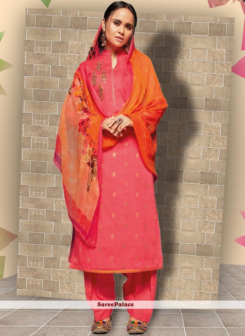 Pink Festival Punjabi Suit