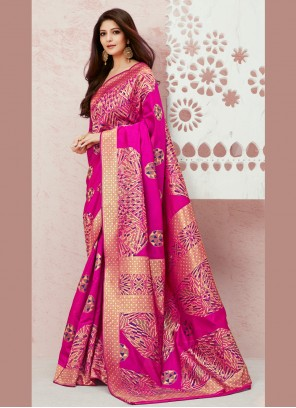Pink Festival Silk Designer Saree