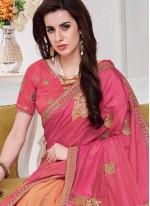Pink Half N Half Designer Saree