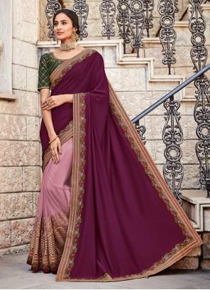 Pink Lace Ceremonial Designer Saree