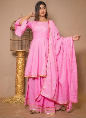 Pink Lace Designer Salwar Kameez