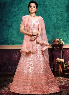 Pink Lace Lehenga Choli