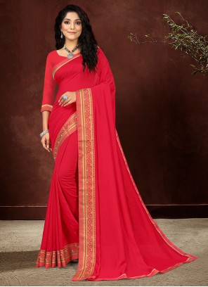 Pink Lace Silk Designer Saree