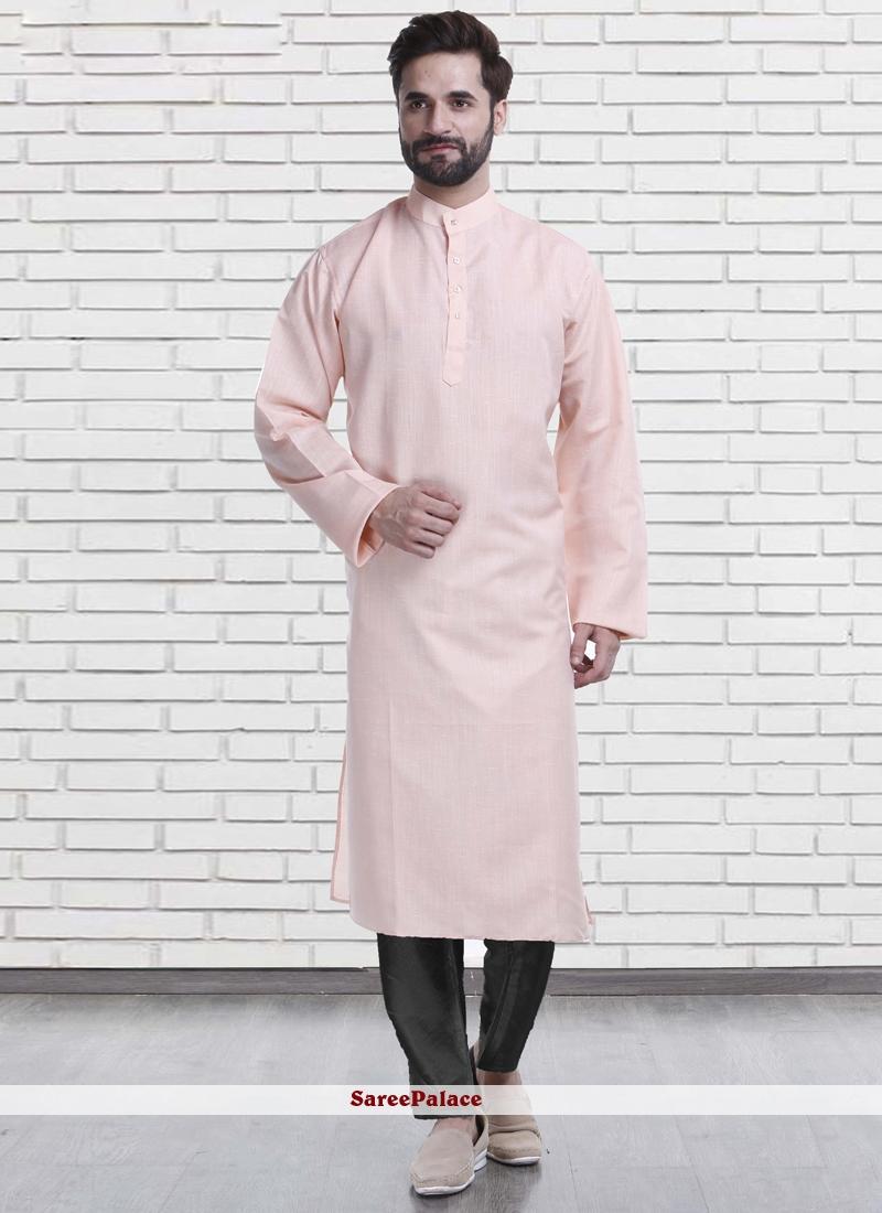 Pink Mehndi Polly Cotton Kurta Pyjama