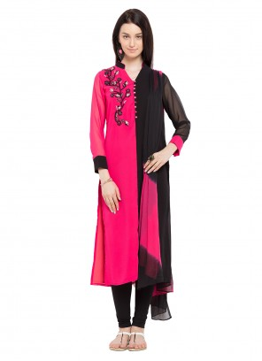 Pink Mehndi Readymade Salwar Kameez