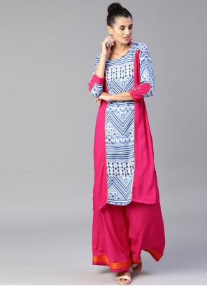 Pink Mehndi Salwar Suit