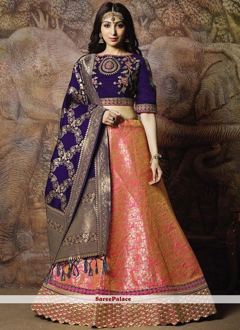 Pink Mehndi Trendy Lehenga Choli