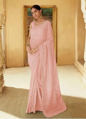 Pink Mirror Classic Saree