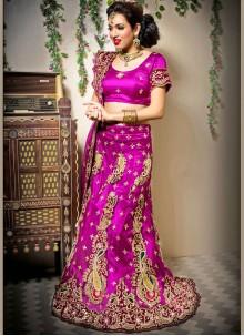 Pink Net Designer Lehenga Choli