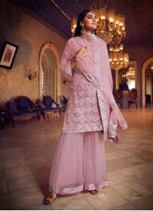 Pink Net Designer Pakistani Salwar Suit