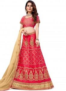 Pink Net Trendy Lehenga Choli