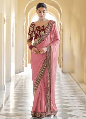 Pink Organza Classic Designer Saree