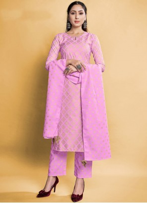 Pink Rayon Pant Style Suit