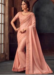 Pink Party Silk Traditional Saree