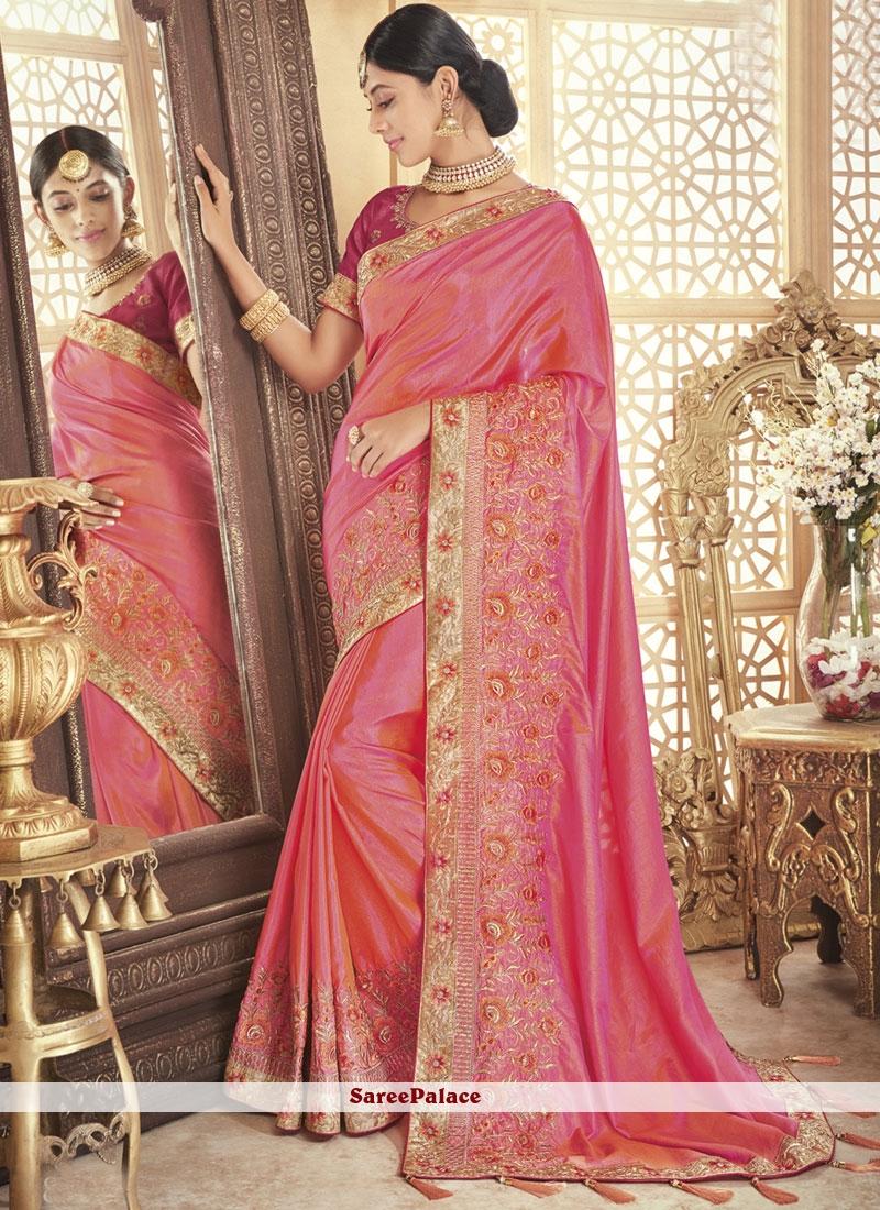 Pink Party Traditional Designer Saree