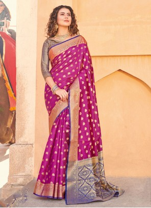 Pink Party Trendy Saree