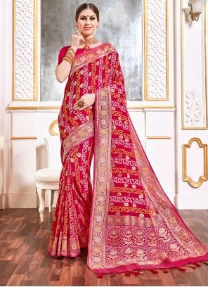 Pink Party Viscose Bollywood Saree
