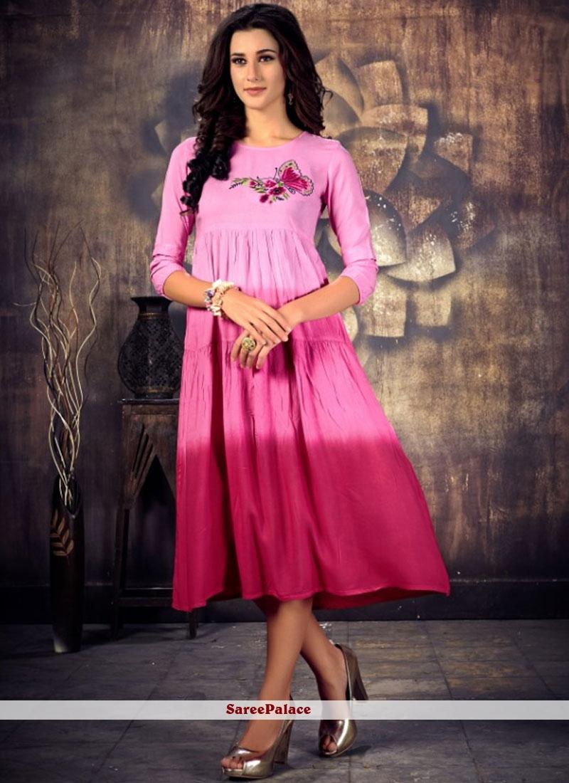 Pink Party Wear Kurti