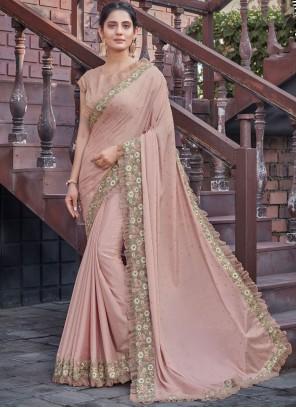 Pink Patch Border Designer Saree
