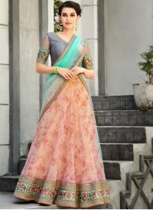 Pink Patch Border Wedding Lehenga Choli