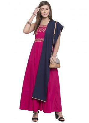 Pink Printed Salwar Kameez