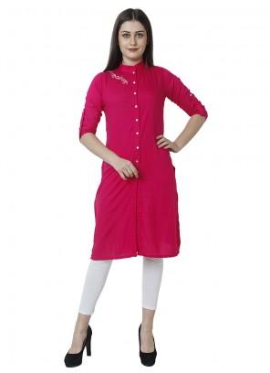 Pink Rayon Party Salwar Kameez