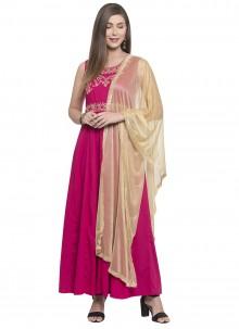 Pink Rayon Printed Salwar Kameez