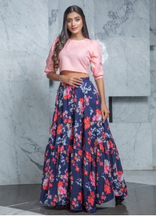 Pink Readymade Lehenga Choli