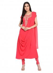 Pink Readymade Salwar Suit