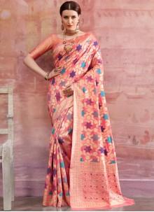 Pink Reception Casual Saree