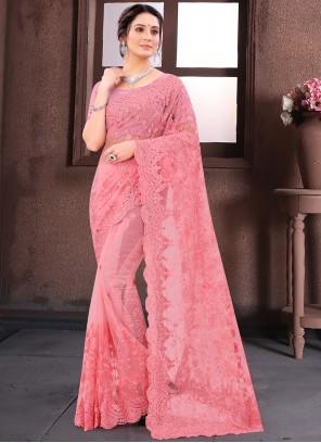Pink Reception Classic Saree
