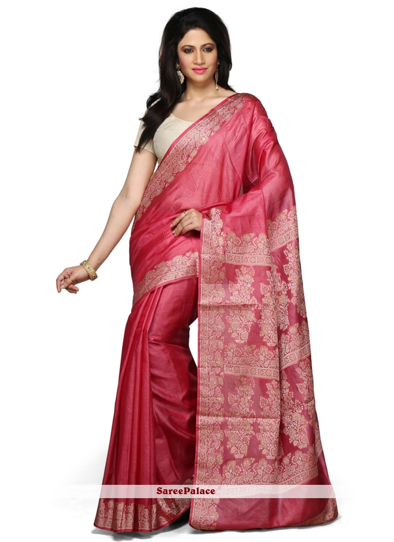 Pink Reception Designer Traditional Saree