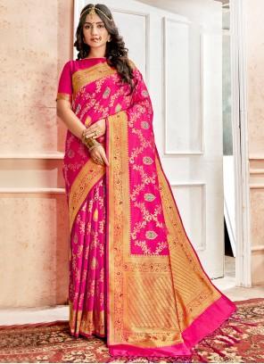 Pink Reception Designer Traditional Saree