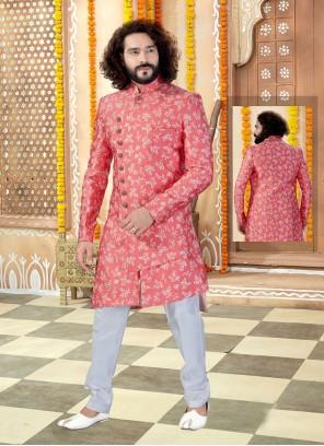 Pink Reception Sherwani