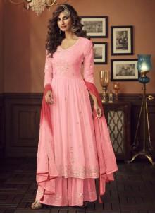 Pink Embroidered Sangeet Salwar Suit