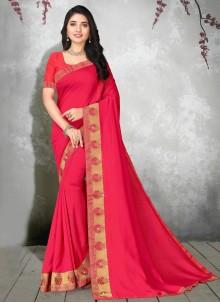 Pink Silk Bollywood Saree