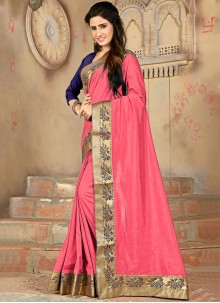 Pink Silk Casual Designer Saree