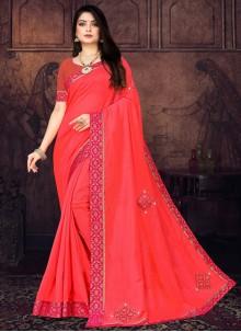 Pink Silk Casual Saree