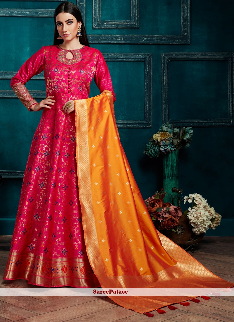Pink Silk Salwar Kameez