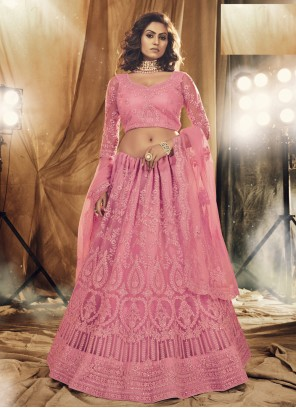 Pink Stone Net Lehenga Choli
