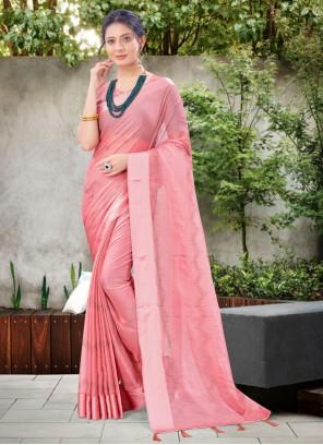 Pink Stone Work Festival Classic Designer Saree