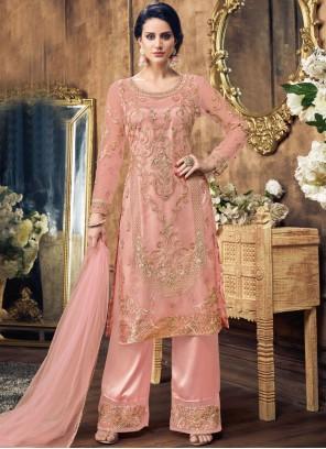 Pink Stone Work Wedding Designer Pakistani Salwar Suit