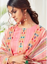 Pink Straight Salwar Suit