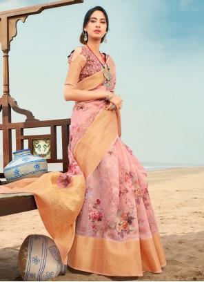 Pink Trendy Saree